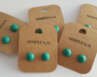 Clay Earrings - Emerald