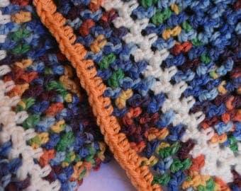 Rainbow Crochet Cat Mat -- Multicolor Pet Blanket