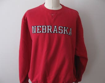 University Nebraska Cornhuskers Sweatshirt Nike Adult Mens XL