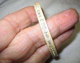 Vintage Rhinestone Bakelite Bracelet Tested