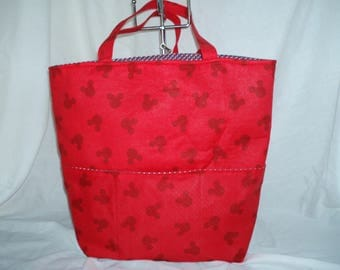 multi purpose red mickey mouse bag
