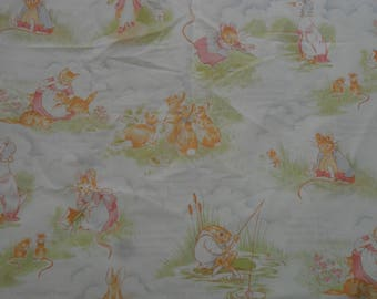 Rare Beatrix Potter cotton fabric