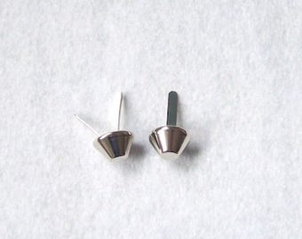 Bag feet silver metal feet for bag purse making - pack 10
