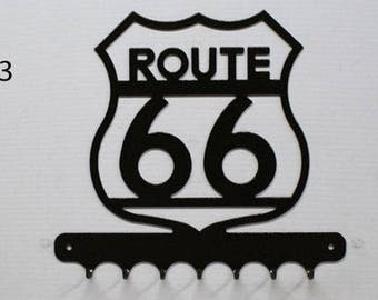 Hangs 26 cm pattern metal keys: route 66