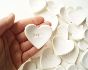 Wedding Favors, Wedding Favors for Guest, Guest Favors, White Hearts, Cheap Favors, Set of 25, Ready to Ship