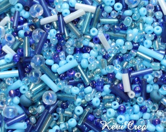 Set of 100g Rock Blues various sizes and shapes