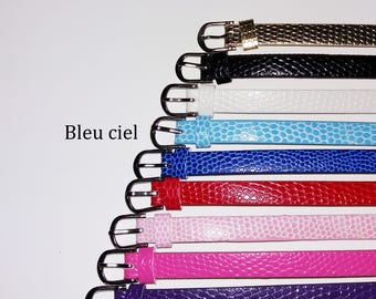 1 x 22cm - light blue leather bracelet