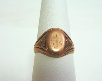 Womens Vintage Estate 10K Rose Gold Ring 3.5g #E3587