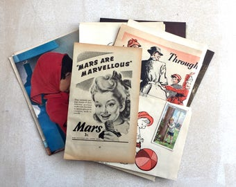 A themed selection of little ones ephemera. Babies, kids, childhood. Pack for art, collage or journaling.