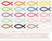 Christian Fish Clipart, Religious Clip Art, Church Clipart, Religion Clipart, Icon Cute Digital Graphic Design Small Commercial Use