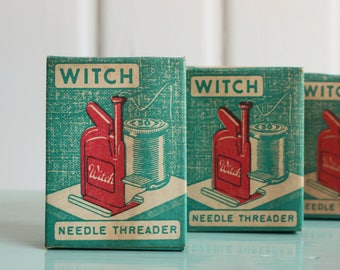 Vintage WITCH Automatic Needle Threader, Vintage Sewing Notions (Each Sold Separately)