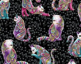 Benartex Fabric Cat-I-Tude Cats All Over