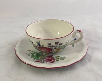 Vintage Luniville Cup And Saucer From France