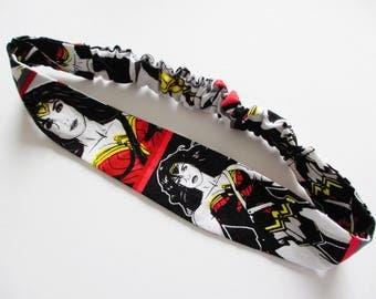 Wonder Woman Gal Gadot Print Cotton Elastic Headband