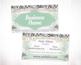 Premade Business Card Design • Vintage
