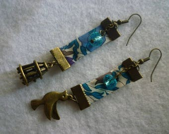 The winter bird of Liberty earrings