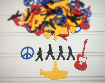 100 pieces of Beatles confetti / yellow submarine / Confetti /  Beatles confetti  / party confetti