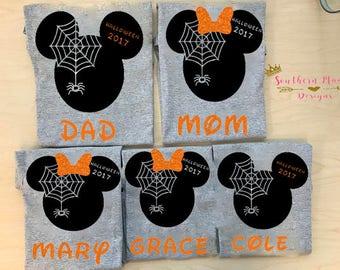 Halloween Disney Family Shirts-Disney Matching Shirts-Disney Family Matching Shirts-Mickey Shirts-Minnie Shirts-Cute Family Disney Shirts