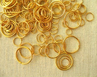 10g 4a14mm gold mixed metal rings