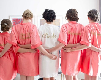 Bride robe , bridesmaid robe, bridesmaid robes, bridal robe, wedding robe, satin robes, wedding robes, bridesmaid gifts, bridal party robes