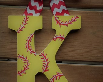 Girly Sports Letters -- Hand Painted Wall Letters -- Price Per Letter