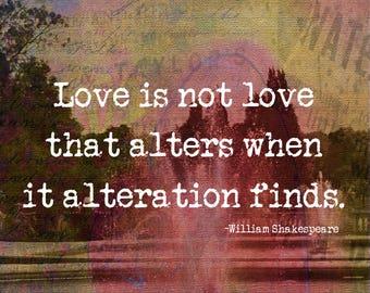 Shakespeare, Sonnet 116, Love