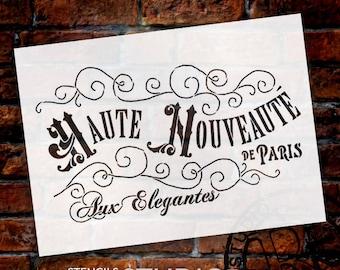 Haute Nouveaute Word Art Stencil - Select Size- STCL893 - by StudioR12