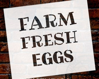 Farm Fresh Eggs Word Stencil by StudioR12 - Fun Country Word Art - STCL2184 - SELECT SIZE