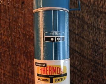 Vintage Thermos bottle teal blue