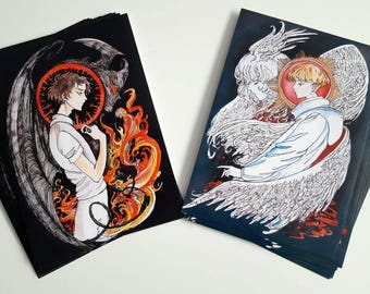 Akira and Ryo - Devilman Crybaby Prints Dyptich
