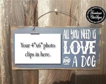 dog, dog gift, dog decor, dog owner gift, gift for dog owner, all you need is love and a dog, dog decor, dog wall art, dog decoration, 309