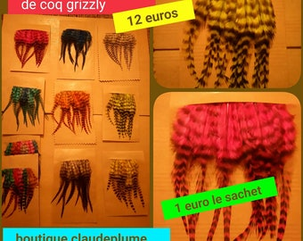 120 small grizzly Rooster feathers