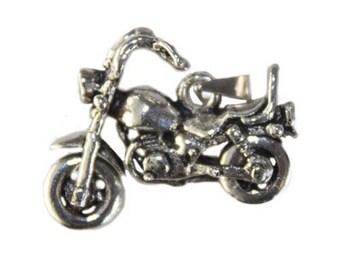 925 Sterling Silver Harley Pendant