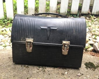Black Thermos Vintage Lunch box