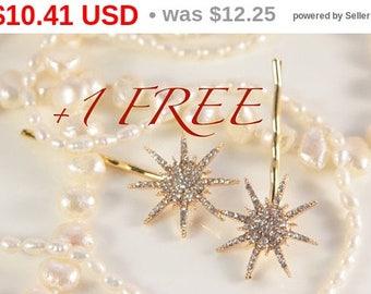 Star Hair Clip Gold Great Gatsby Wedding Band Snowflake Star Hair Piece Pin Bridal Star Headpiece Starry Fairy Bridal Hair Comb Elsa Crystal