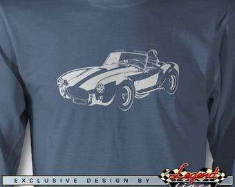 AC Cobra Replica Long Sleeves T-Shirt - In the Spotlights - Multiple colors Avail. - Size S - 3XL - Great AC Cobra & Replica Roadsters Gift