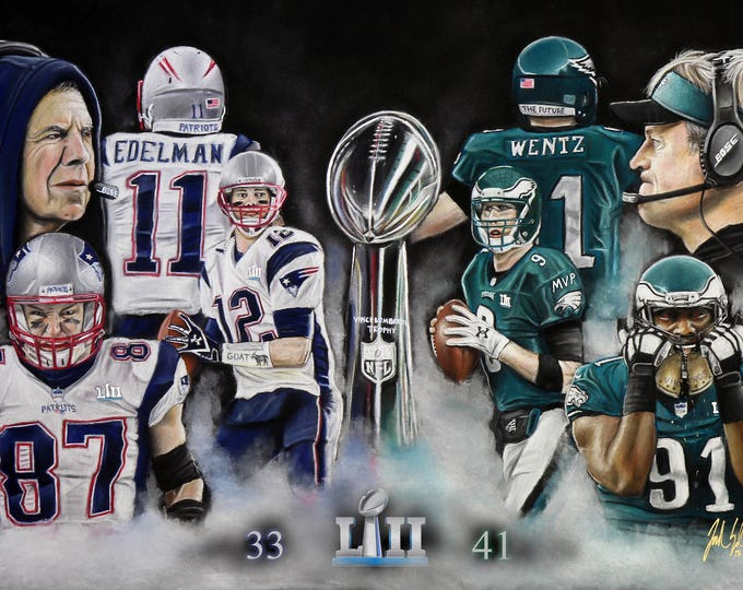 Super Bowl LII - Philadelphia Eagles - Super Bowl - New England Patriots - Nick Foles - Carson Wentz - Eagles - Man Cave - World Champions