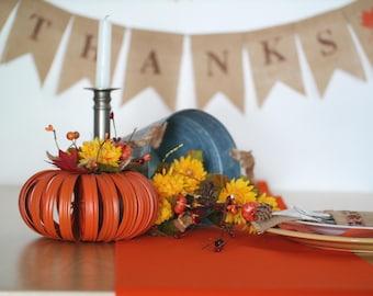 Thanksgiving Table Runner / Orange Table Runner / Solid Table Runner / Decorative Table Runner / Dining Table Decor / Table Linens