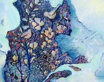 Peinture originale unique oeuvre Québec art  tableaux québécois Kim Normandin