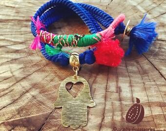 Hamsa Bracelet. Handmade Bracelet