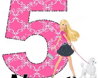 Fancy Barbie DIGITAL iron on IMAGE