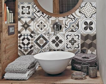 "PS00089 ""Braga"" Pvc tiles for bathroom tiles and kitchen Ceramic decorations various sizes"