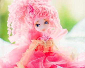 Fantasy doll Whimsical Doll OOAK fairy doll kids toy girl bedroom decor for play angel doll bjd gift toy playroom decor posable fairy doll