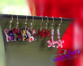 Dangle Earrings, Floral Butterfly, Starfish