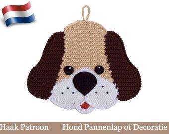 161NLY Haak patroon - Hond decoratie of pannenlap  - Amigurumi Crochet Pattern - PDF file by Zabelina Etsy