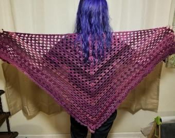 Lacy Shell Stitch Crocheted Shawl
