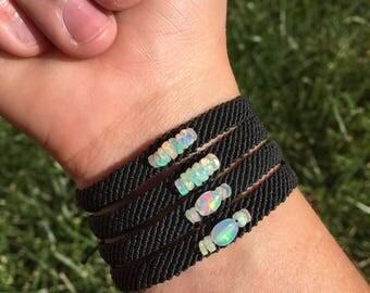 Faceted opal bead bracelet!