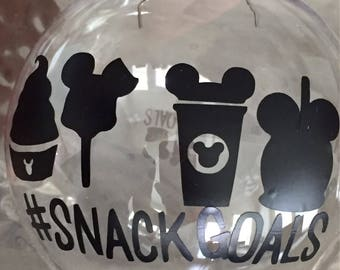 Disney snack goals ornaments