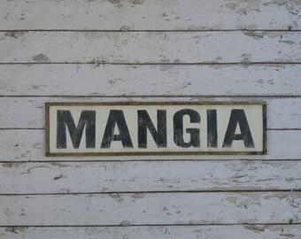 Italian Kitchen Sign, Italian Decor, Mangia Sign, Famiglia Sign, Cucina Sign, Custom Wood Sign, Italian Sign, Kitchen Sign