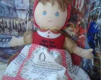"Vintage Eden Cloth ""Little Red Riding Hood"" Doll"